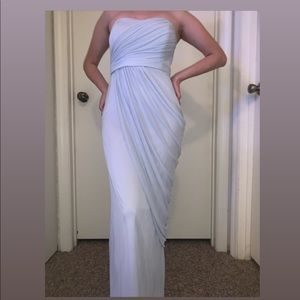 David's Bridal light blue homecoming/prom dress